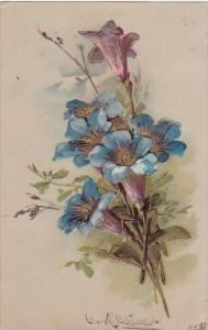 Beautiful Blue Flowers Catharina Klein 1908