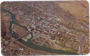 Air View of Business Section of Missoula Montana MT