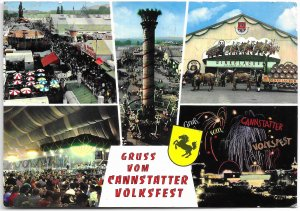 Stuttgart Germany. Cannstatter Volksfest.   Used with stamp