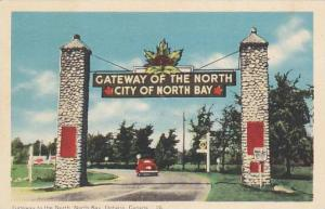 Gateway to the North, North Bay, Ontario, Canada,  PU-1954