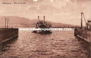 italy, MESSINA, Sicily, Ferry-Boats (1910s)