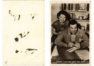 CPA AK Mario Lanzas and his wife FILM STAR (549126)