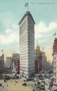 NEW YORK CITY , New York, 1900-10s ; Flat Iron Building