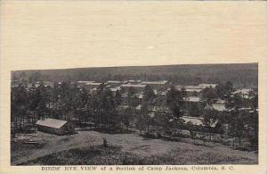 South Carolina Columbia Birds Eye View Of A Section Of Camp Jackson