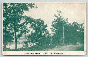 Lawton Michigan~Roadside Drive by Waterfront~All Well~Not Spry~Weak~Pleurisy~'26