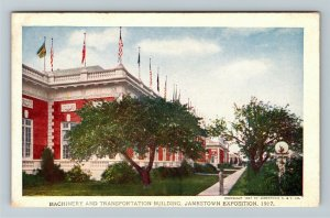 Jamestown Exposition 1907 No. 189 Machinery and Transportation Building Postcard