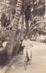 RP:Girl on a bicycle , PALM BEACH , Florida , 00-10s