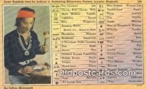 Some Symbols used by Indians Indian Postcard, Post Card Unused