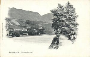 austria, INNSBRUCK, Ferdinand Allee (1899) Postcard