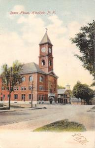Hinsdale New Hampshire~Opera House~Clock~Water Tower~1907 Postcard