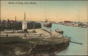 Manila Philippines Mouth of Pasig River c1910 Postcard