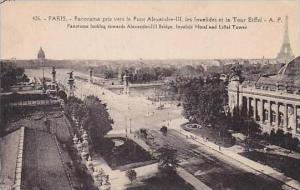 France Paris Panorama pris vers le Pont Alexandre III