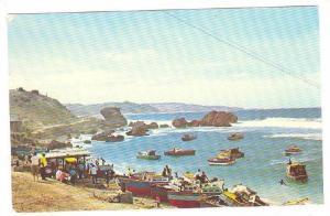 Fishing boats at Tent Bay on the Atlantic Coast in the parish of St. Joseph, ...
