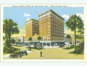 Unused W-Border PRINCESS MARTHA HOTEL St. Petersburg Florida FL hr8953
