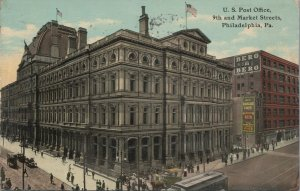 c1901-07 Post Office 9th & Market Streets Center City PA Vintage Postcard
