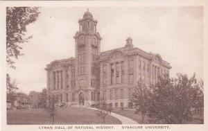 New York Syracuse Lyman Hall Of Natural History Syracuse University Albertype