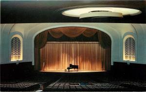 Bloomington Indiana~Indiana University~Auditorium Interior~Grand Piano~1950s