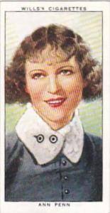 Wills Cigarette Card Radio Personalities 2nd Series No 35 Ann Penn