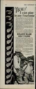 1927 Grand Slam Golf Clubs I Can Play in Any Foursome Vintage Print Ad 3925