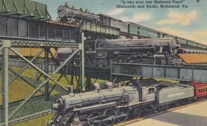 Triple Railroad bridges , RICHMOND , Virginia , 30-40s