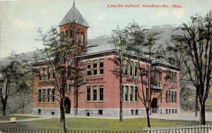 E83/ Steubenville Jefferson County Ohio Postcard 1911 Lincoln School Building 7