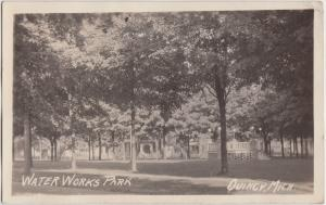 1927 QUINCY Michigan Mich RPPC Real Photo Postcard WATER WORKS PARK