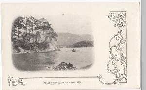 Cumbria; Friars Crag, Derwentwater PPC, Unposted, c 1900's, Art Nouveau Border