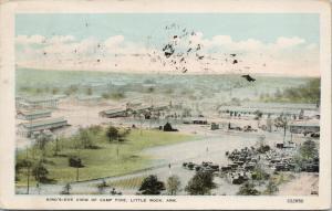Camp Pike Little Rock AK Arkansas Birdseye c1918 Postcard E48