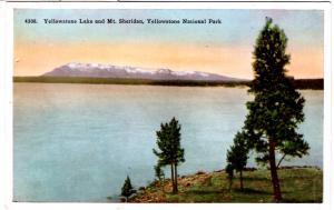 TAMMEN 4308 Yellowstone Lake and Mt Sheridan Yellowstone National Park