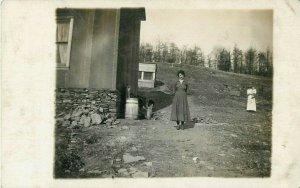 Postcard RPPC Hot Girl In A Bygone Era