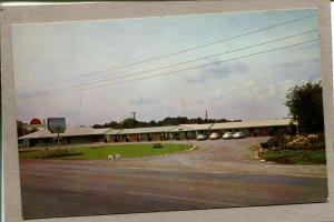 Postcard TN Lebanon Sunset Motel & Restaurant c1965 Cars 2513N