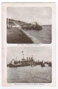 Harbour Views Sydney & Melbourne Australia postcard