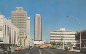 Edmonton's City Hall and CN Towers, Edmonton,  Alberta,  Canada,  40-60s