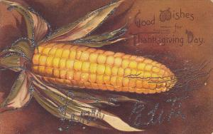 Clapsaddle Thanksgiving Greetings Ear Of Corn