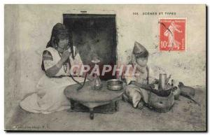 Old Postcard Smoking Scenes and Types Narghile