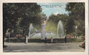 SAVANNAH, Georgia, 1900-1910's; Fountain In Forsythe Park