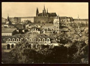Prague Czechoslovakia photo card to New York 1958