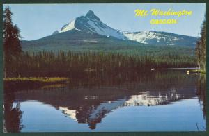 OREGON Dawn at Mt Washington Big Lake Central Cascade Range Postcard