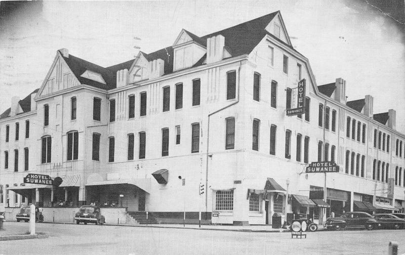 Cordele Georgia Suwanee Hotel On Us High 41 40s Cars 1951 B W Postcard
