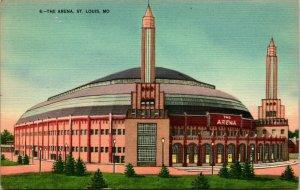 Vtg Lino Cartolina St.Louis Missouri MO - Il Arena - Unp
