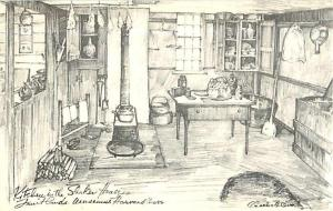 3 Drawing Postcards of Fruitland Museums Harvard MA by Overl
