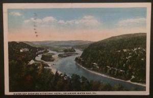 Water Gap Showing Kittantinny Hotel Delaware Water Gap PA 1921 A.A.&L.M. Hauser