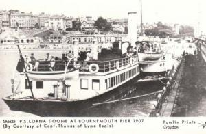 SS Lorna Doone Ship At Bournemouth Pier Photo Postcard