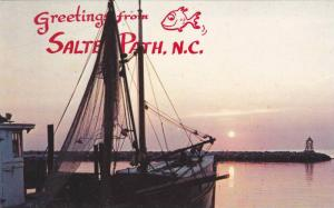 Boat,  Greetings from Salter Path,  North Carolina,   40-60s
