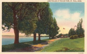 St. Paul, Minnesota, MN, Lake Phalen at Phalen Park, 1936 Linen Postcard g8454