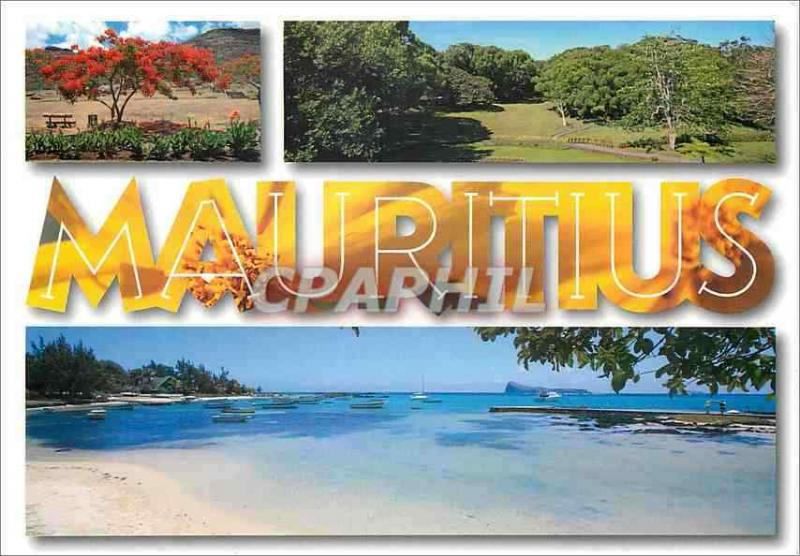 Modern Postcard Mauritius Landscape typical