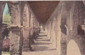 California San Juan Capistrano Chapel Corridor Looking North The Old Mission ...