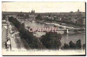 Old Postcard Paris View Scine Flora Bridge decision