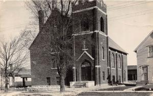D59/ Scottville Michigan Mi Real Photo RPPC Postcard 1930 First Methodist Church