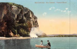 MATANZAS CUBA~RIO YUMURI~YUMURI RIVER~COUPLE IN SMALL BOAT POSTCARD